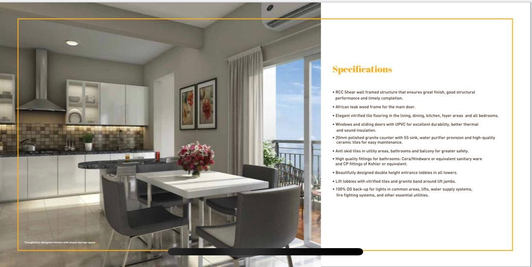 Specifications - Shriram Divine City